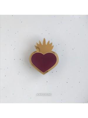 Брошь Огненное сердце минималистичное