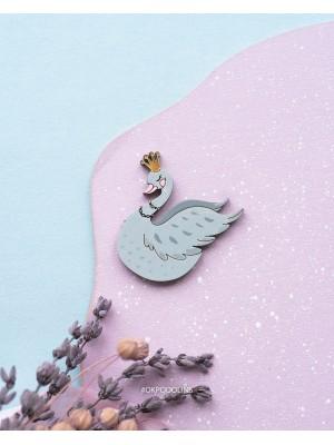 Брошь Принцесса-лебедь
