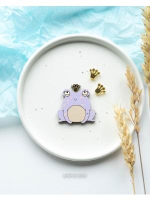 Набор Царевна-Лягушка с короной и сережки короны