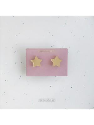 Сережки Звездочки зеркальные золотистые