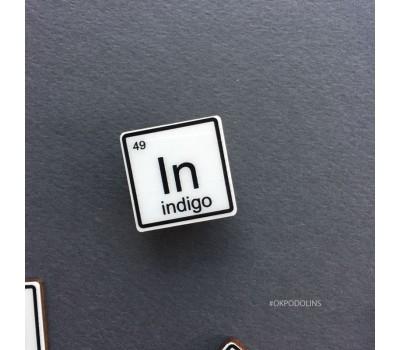 Брошь Химический Элемент Indigo