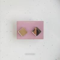 Сережки Ромбики-квадраты зеркальные