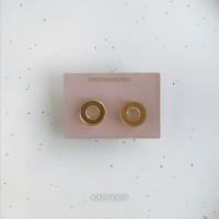 Сережки Кружички-бублики зеркальные