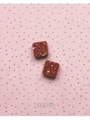 Сережки Ромбики-квадраты дерево