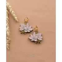 Серьги магнолия цветущая