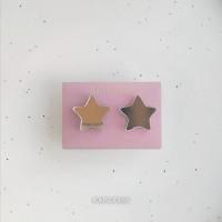 Сережки Звездочки зеркальные