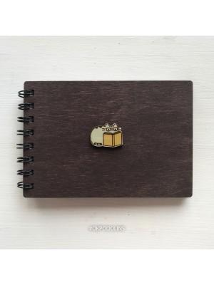 Блокнот деревянный Кот Пушин