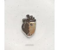 Брошь Сердце анатомическое зеркальное