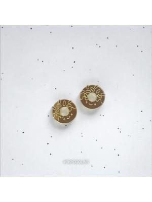 Сережки пончики зеркальные