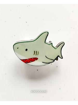 Брошь Мультяшная акула