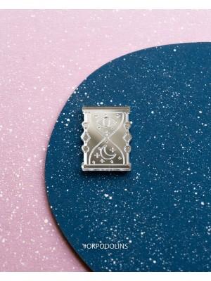 Брошь зеркальная Песочные Часы Серия Медитация