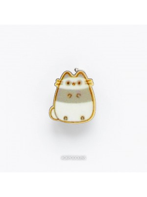 Брошь Полосатый кот