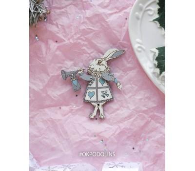 """Елочная игрушка """"Кролик из Алисы в Стране Чудес"""""""