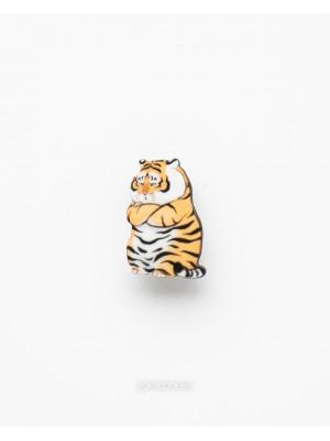 Брошь фан-арт Недовольный тигр