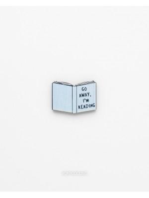 Брошь фан-арт Книга Go away i am reading