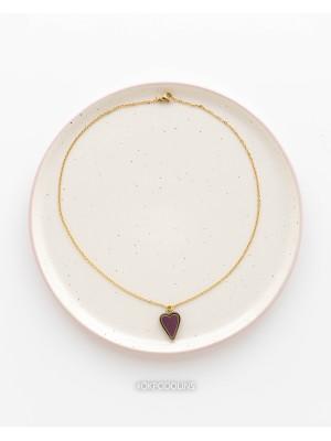 Кулон на цепочке с сердцем из коллекции Преданное сердце