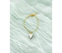Браслет на цепочке с кулоном из коллекции Преданное сердце