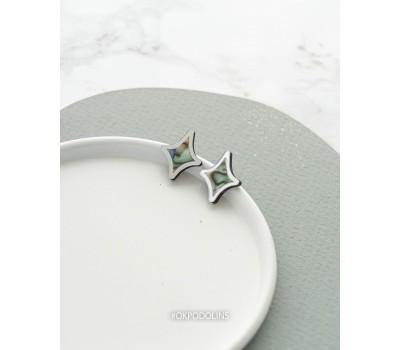 Серьги Звезды четырехконечные
