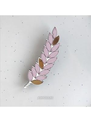 Брошь Колосок светло-розовый