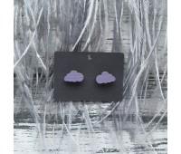 Сережки Сережки Тучки в фиолетовом