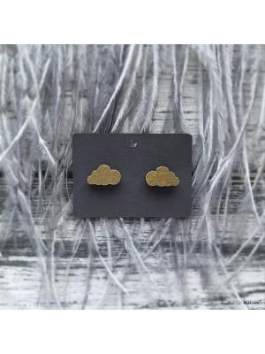 Сережки  Тучки золотые