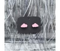 Сережки Сережки Тучки розовые