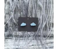Сережки Сережки Тучки пыльно-голубые