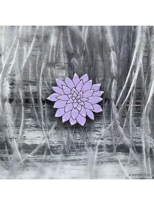Миниброшь Суккулент фиолетовый
