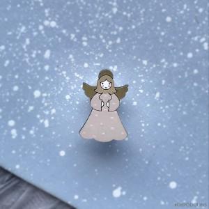 Миниброшь Ангелочек маленький