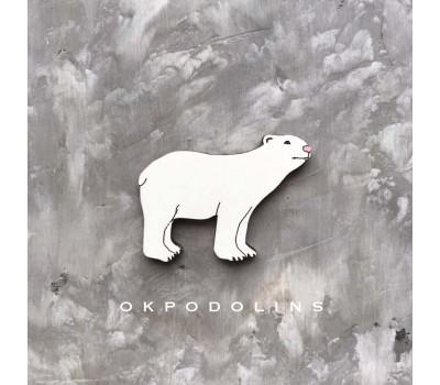 Брошь Белый медведь
