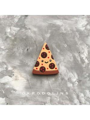 Брошь Пицца