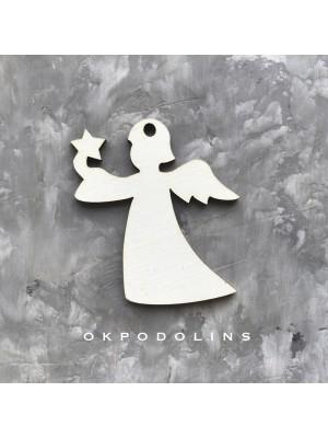 """Елочная игрушка """"Ангел со звездой"""" из коллекции """"Зимний узор"""""""