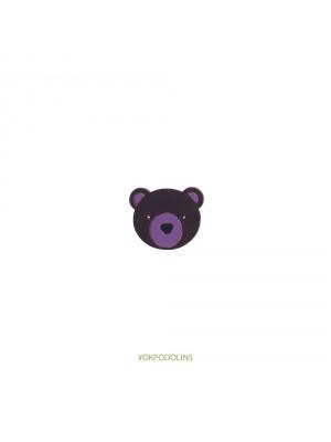 Брошь Медведь (голова)