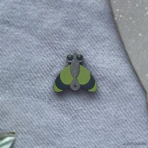 Миниброшь Муха зеленая