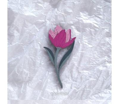 Брошь Тюльпан изящный