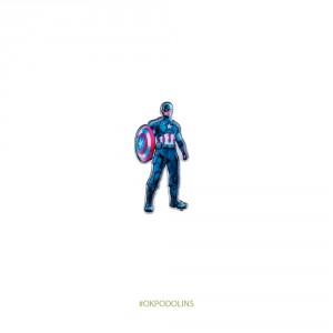 Брошь Капитан Америка