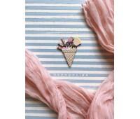 Брошь Мороженое вафля