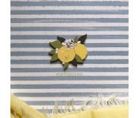 Брошь Лимон цветущий