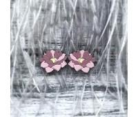 Сережки Лотосы маленькие розовые