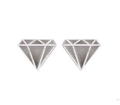 Сережки Алмазики зеркальные серебристые