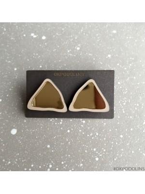 Серьги Пирамидки на гвоздике