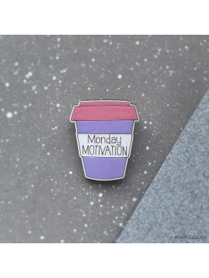 Маленькая брошь Стакан Monday Motivation