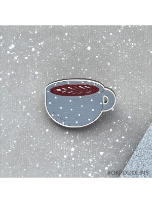 Маленькая брошь Чашка Каппучино