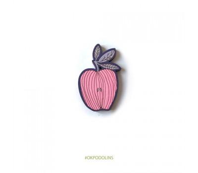 Брошь Яблоки полосатые