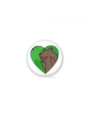 Значек - Мишка в лесу