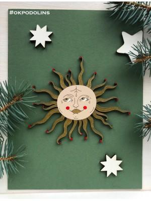 Елочная игрушка Солнце-девица