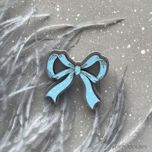 Брошь Бантик в голубом цвете