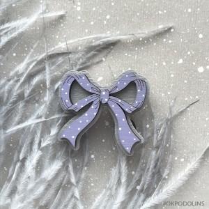 Брошь Бантик в фиолетовом цвете